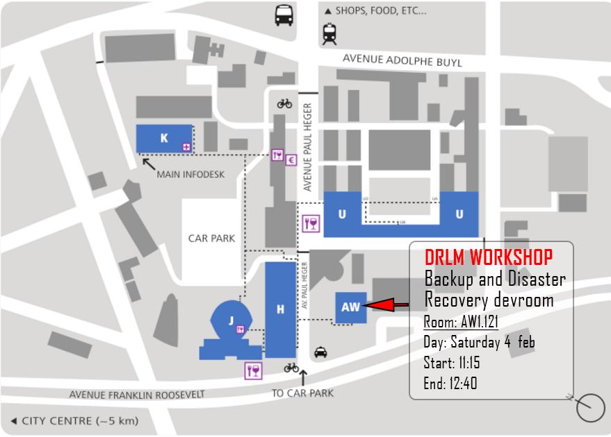 DRLM FOSDEM 17 MAP