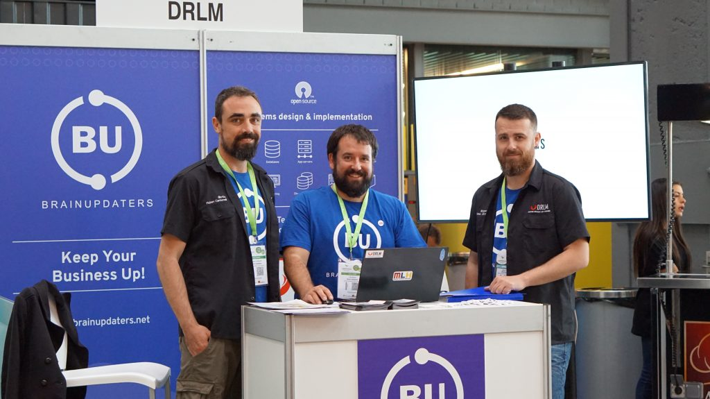BrainUpdaters Team (Ruben, Pau, Didac) at Open Expo
